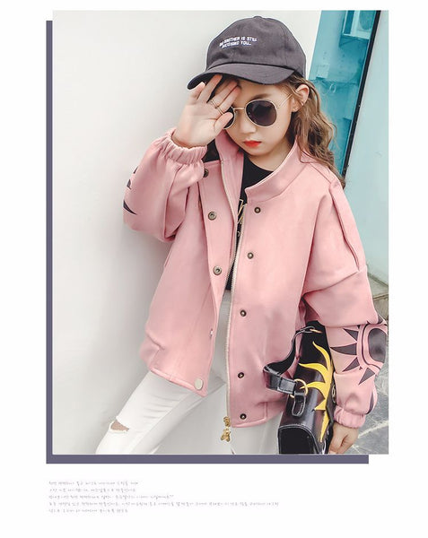 Children's fashionable winter fur jacket short section - AddOneClothing