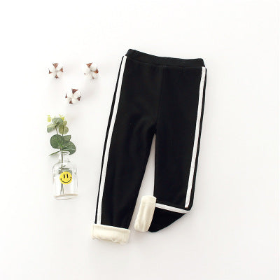 Children's fashion winter plus velvet pant leggings - AddOneClothing