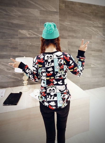 Korean Style - Mickey photos hoody - AddOneClothing - 2