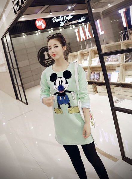 Korean Style - Mickey big nose woolen dress - AddOneClothing - 2