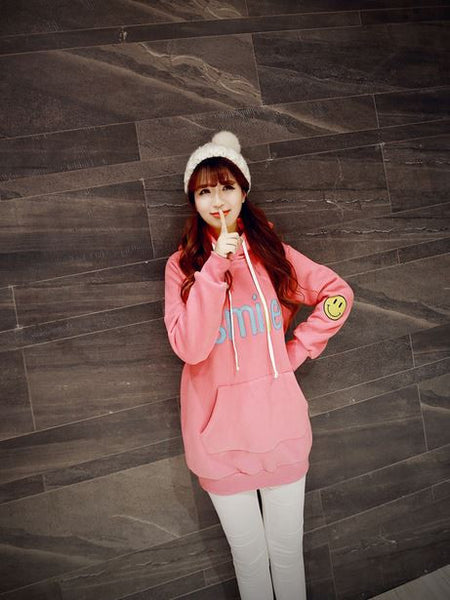 Korean Fashion - Smile face warm hoody with hat - AddOneClothing - 6