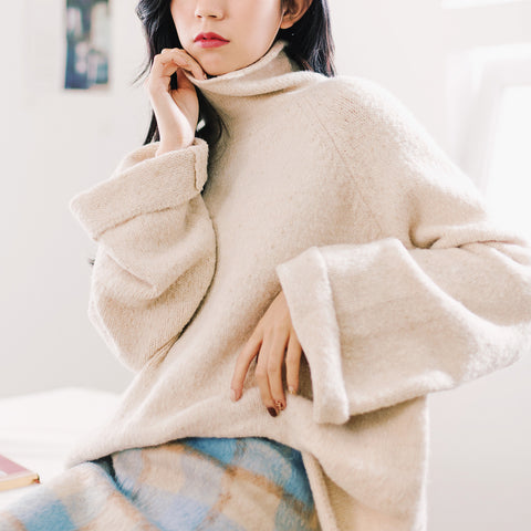 Korean Fashion - Loose knit top - AddOneClothing