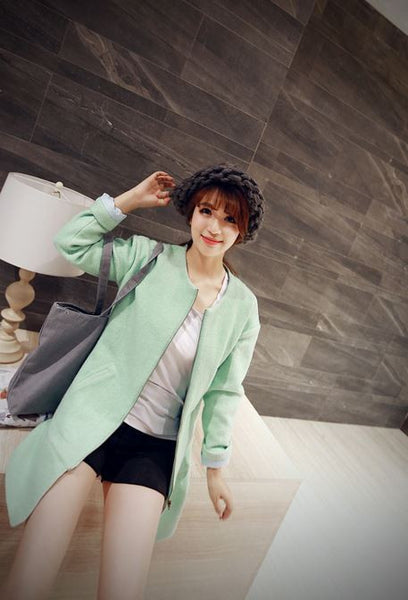Korean Style - long woolen coat - AddOneClothing - 4