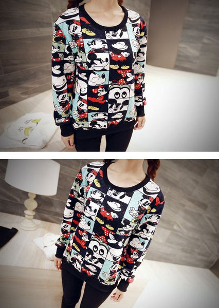 Korean Style - Mickey photos hoody - AddOneClothing - 4