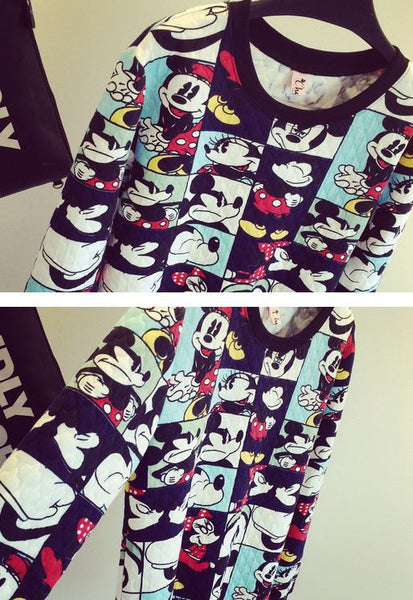 Korean Style - Mickey photos hoody - AddOneClothing - 5