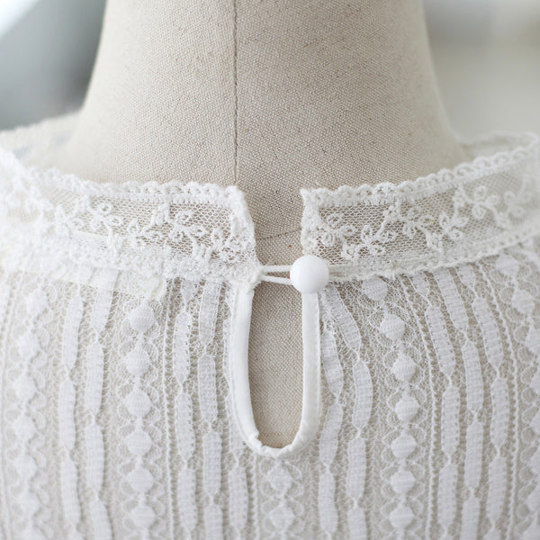 round neck lace shirt - AddOneClothing - 8