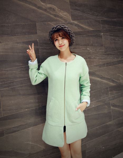 Korean Style - long woolen coat - AddOneClothing - 5