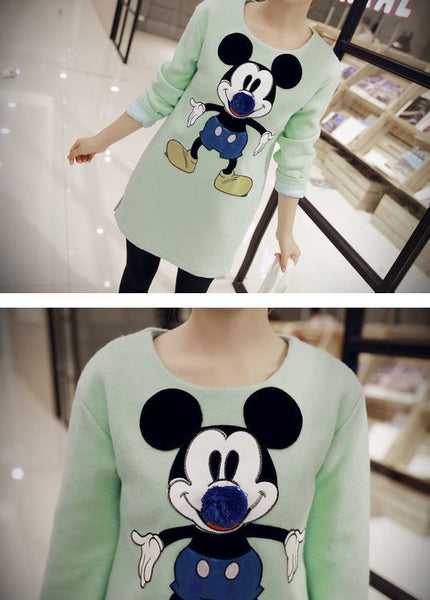 Korean Style - Mickey big nose woolen dress - AddOneClothing - 4