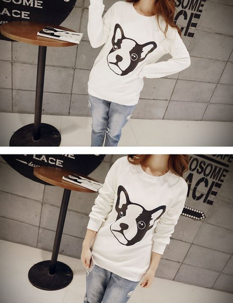 Korean Style - Dog face printing warm hoody - AddOneClothing - 5