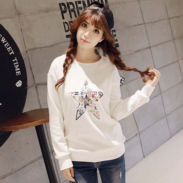Korean Style - Autumn with printing hoody - AddOneClothing - 5