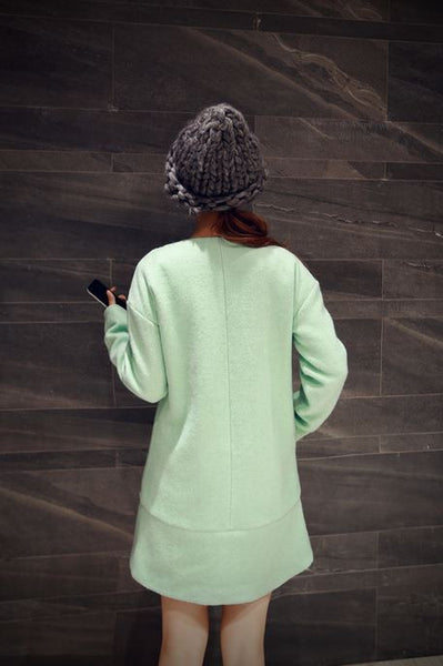 Korean Style - long woolen coat - AddOneClothing - 6