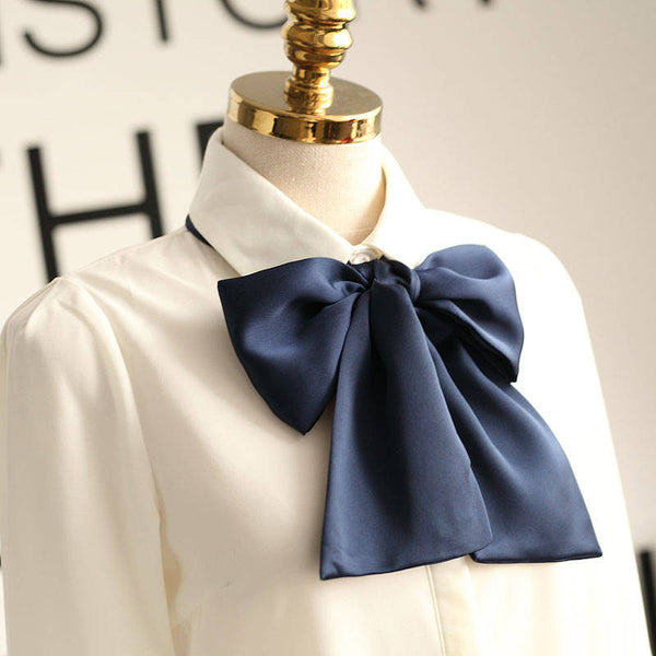 Japanese Style - Loose bow tie collar shirt - AddOneClothing - 5