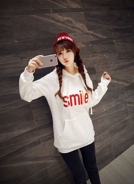 Korean Fashion - Smile face warm hoody with hat - AddOneClothing - 1