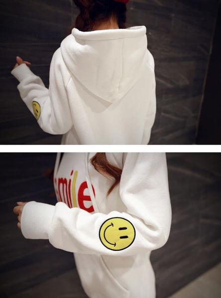 Korean Fashion - Smile face warm hoody with hat - AddOneClothing - 4
