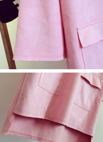 Korean Style - Pink hooded long top - AddOneClothing - 6