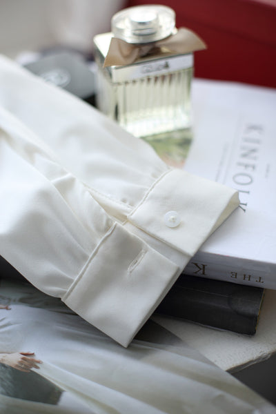 Korean fashion(&Japanese) Bowknot Nine Points Sleeve shirt - AddOneClothing