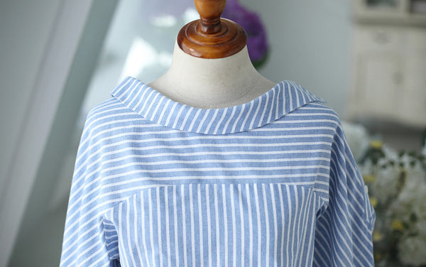 striped long-sleeved shirt - AddOneClothing - 15