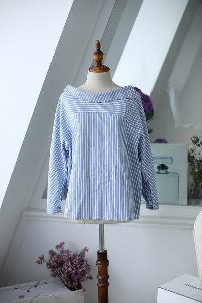 striped long-sleeved shirt - AddOneClothing - 11
