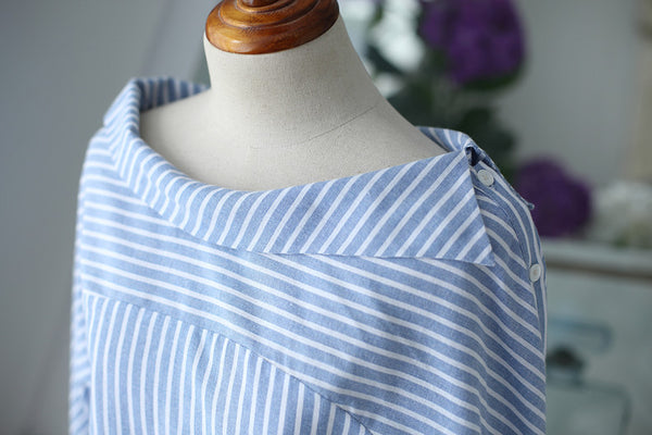 striped long-sleeved shirt - AddOneClothing - 10