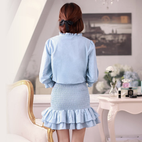 Small collar Slim skirt dress - AddOneClothing - 5
