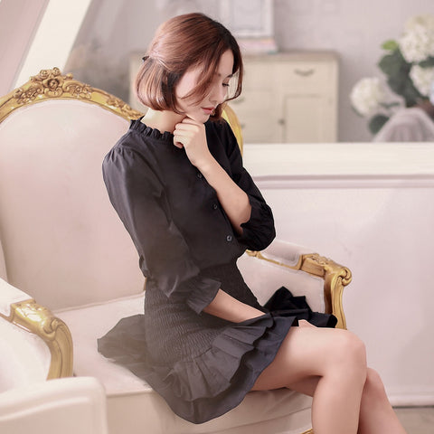 Korean fashion(&Japanese) Small collar Slim skirt dress - AddOneClothing