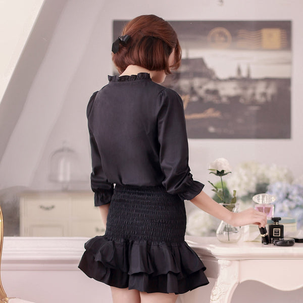 Small collar Slim skirt dress - AddOneClothing - 3