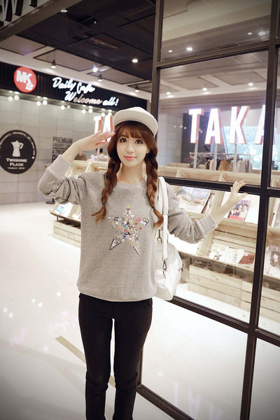 Korean Style - Autumn with printing hoody - AddOneClothing - 2