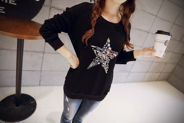 Korean Style - Autumn with printing hoody - AddOneClothing - 7