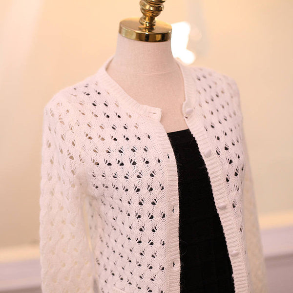 Japanese Style - Angora hollow sweater - AddOneClothing - 5