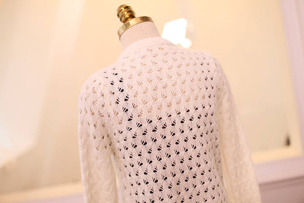 Japanese Style - Angora hollow sweater - AddOneClothing - 4