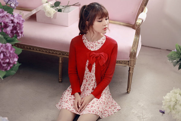 air-conditioned with Bow knit top - AddOneClothing - 5