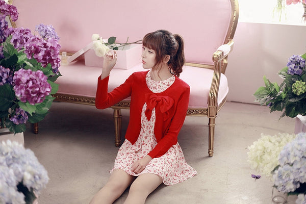 air-conditioned with Bow knit top - AddOneClothing - 6