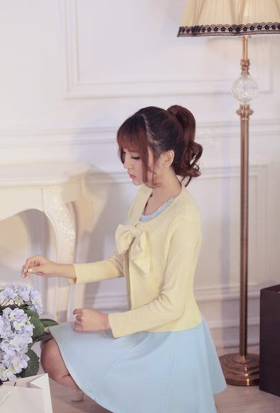 air-conditioned with Bow knit top - AddOneClothing - 7