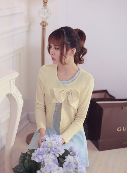 air-conditioned with Bow knit top - AddOneClothing - 8