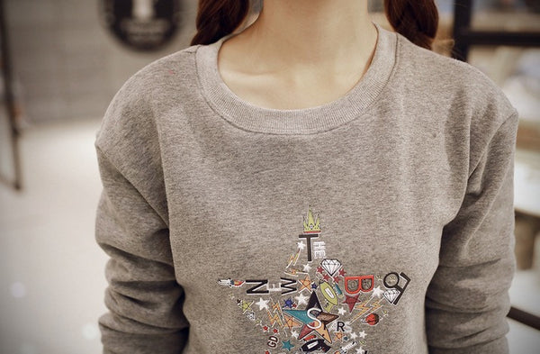 Korean Style - Autumn with printing hoody - AddOneClothing - 9