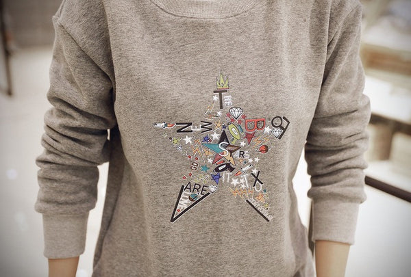 Korean Style - Autumn with printing hoody - AddOneClothing - 8