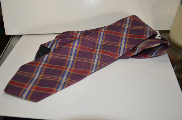 Oscar De La Renta Men's Plaid Necktie