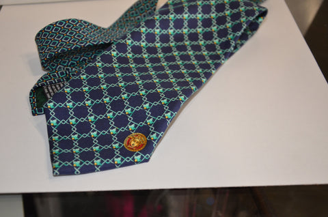 Gianni Versace Men's Necktie Blue & Green