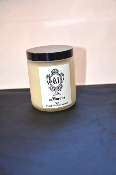 De Marcus Candles- #6 Cranberry Marmalade