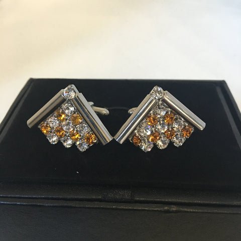 De Marcus Orange Triangle cufflinks