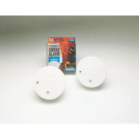Lifesaver Smoke Alarm, 9V Battery Included