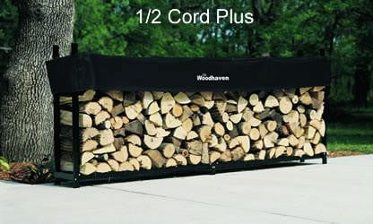 1/2 Cord PLUS Woodhaven® Firewood Rack and Cover