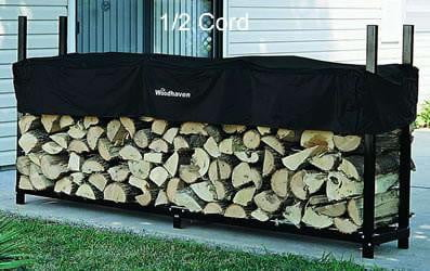 1/2 Cord Woodhaven® Firewood Rack and Cover