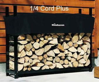 1/4 Cord PLUS Woodhaven® Firewood Rack and Cover