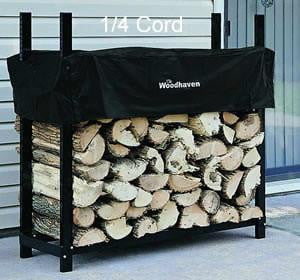 1/4 Cord Woodhaven® Firewood Rack and Cover