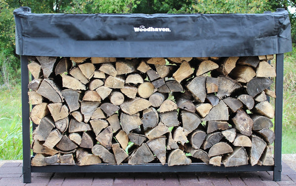 1/3 Cord  6ft Woodhaven Black Firewood Rack