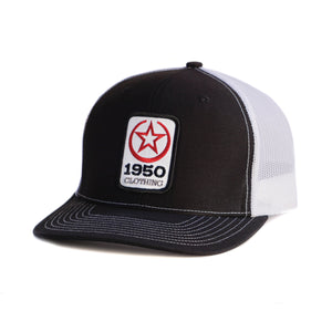 1950 Clothing Co Hat (Black/White)