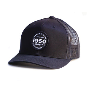 Black Circle Patch Hat