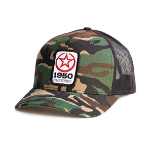 Square Patch Camo Hat