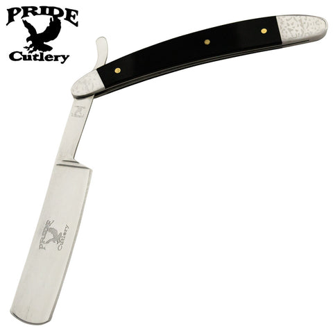 10 Inch Pride Cutlery Straight Razor - Black G-10 Handle P-20703